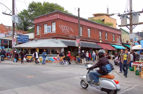 Casa Acoreana on a busy Saturday in Kensington Market