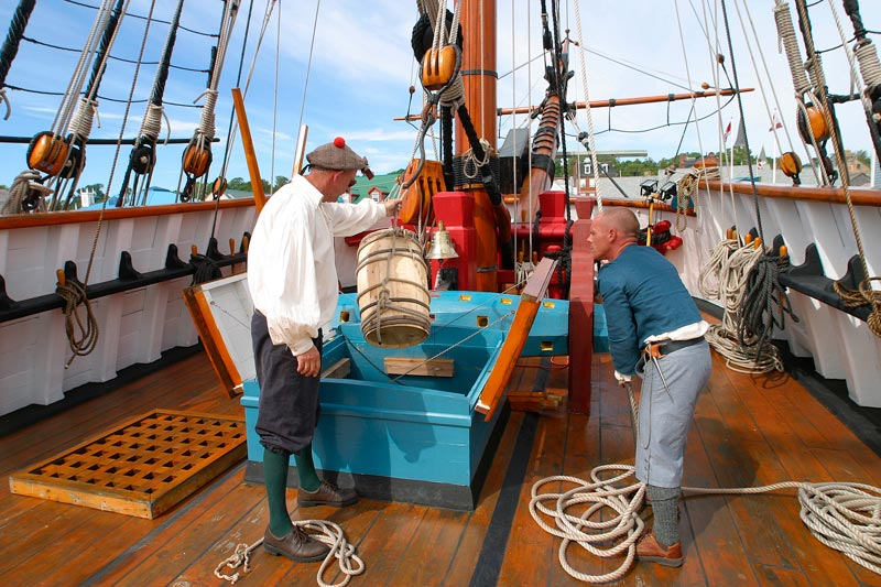On-board Ship Hector – photo: courtesy Town of Pictou, NS
