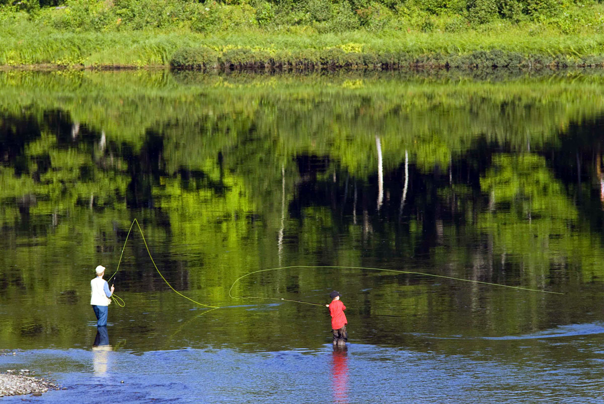 Fly-fishing-Miramichi-River