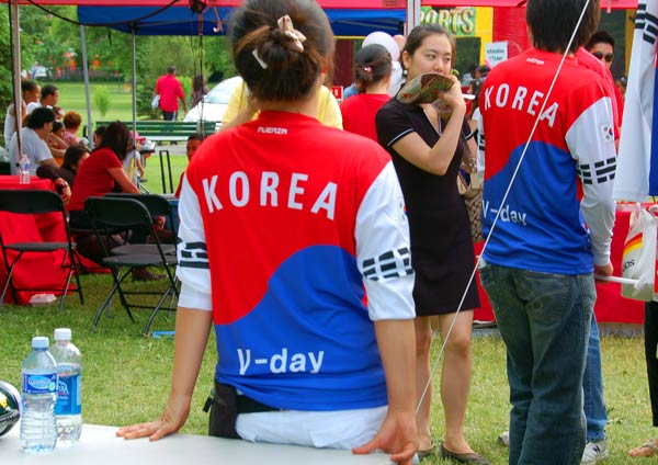 World Cup Korea Town party