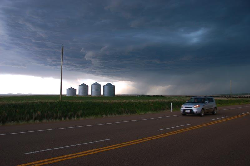 storm clouds near Drumheller, Alberta