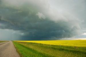 storm clouds near Vulcan, Alberta