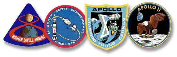 logos from Apollo 9 to 11