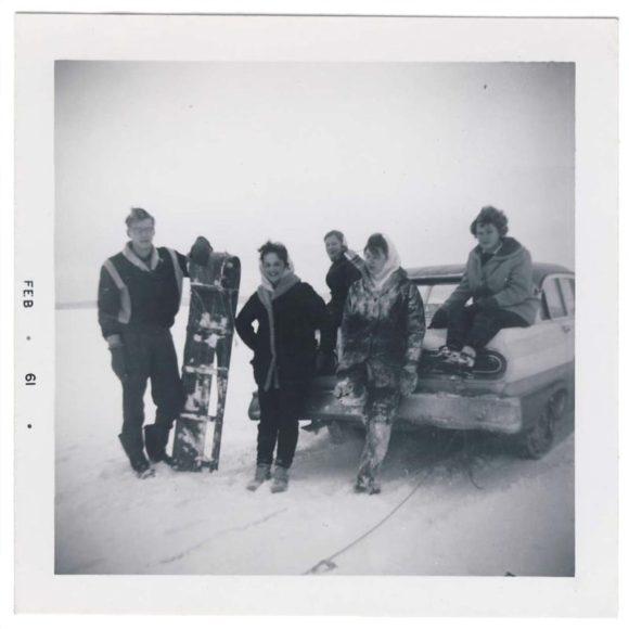 winter tobogganing 1961