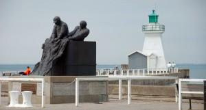 Fisherman monument in Port Dover