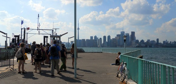 departing for Toronto on the Wards Island Ferry