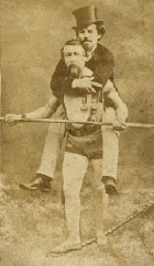 Charles Blondin on a tightrope