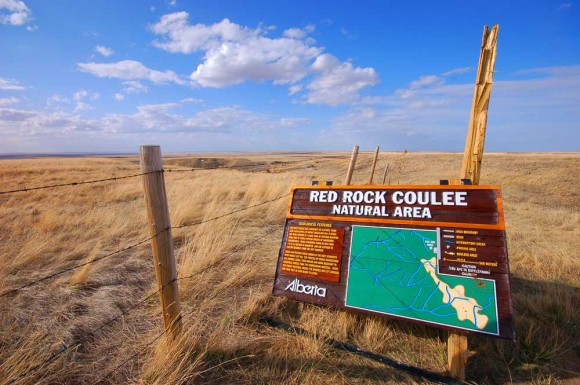 Red Rock Coulee sign