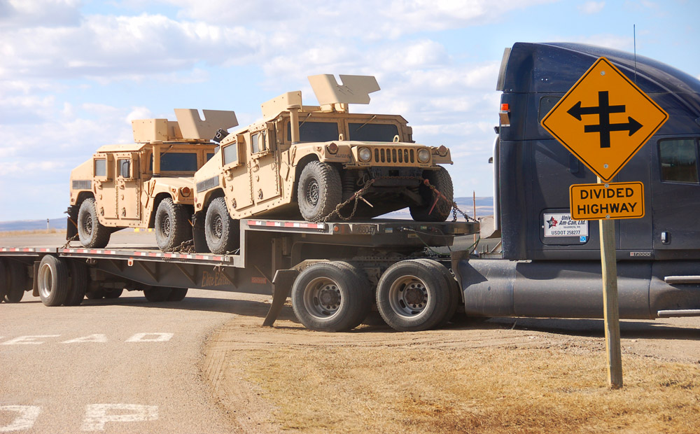 HUMVEEs at Coutts, Alberta