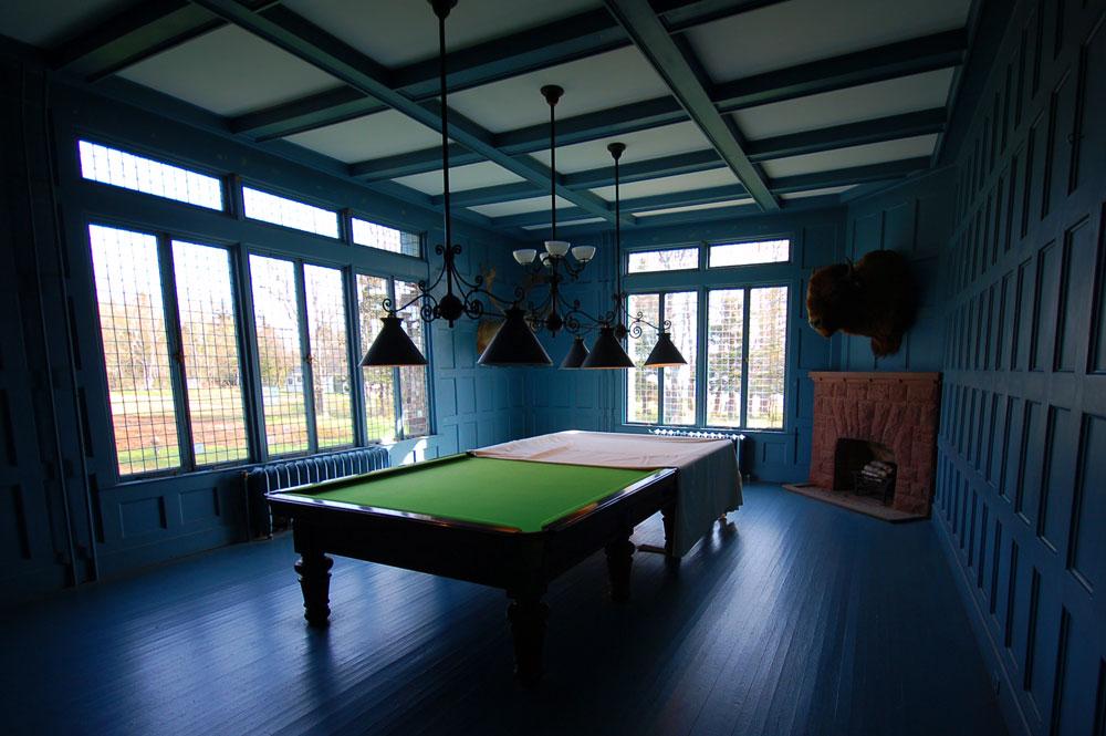Ministers Island Covenhoven billiards room
