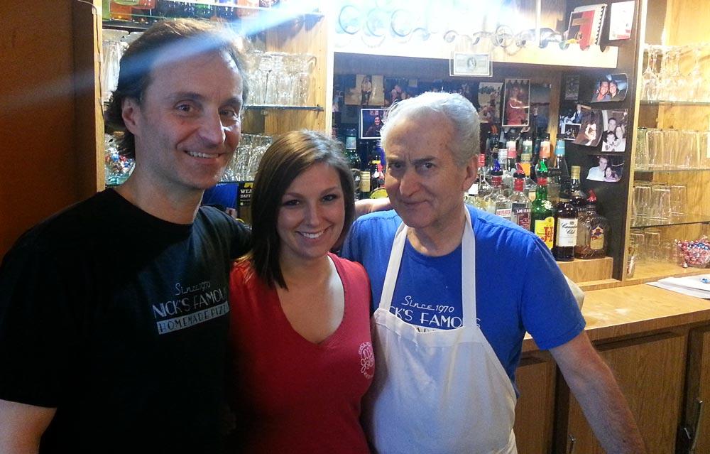 Staff at 1000 Islands Pizza in Brockville, Ontario