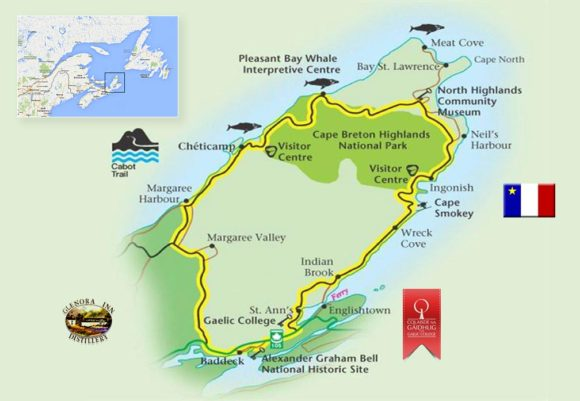 cabot trail map