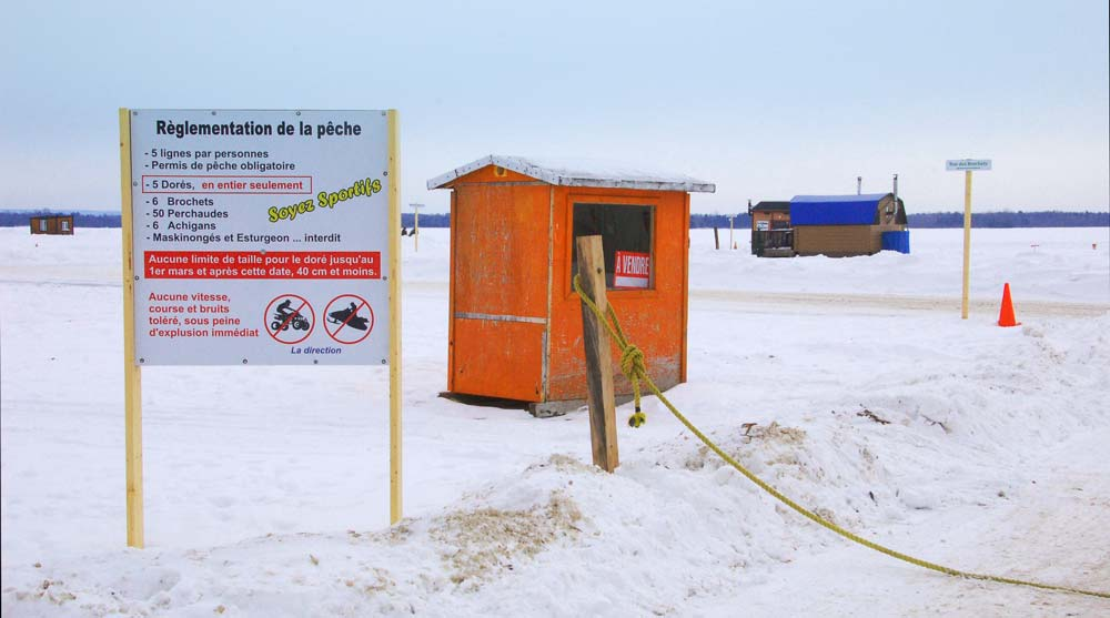 ice fishing huts for sale ontario