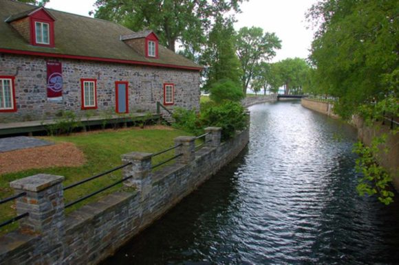 historic stone warehouse on the Lachine Canal