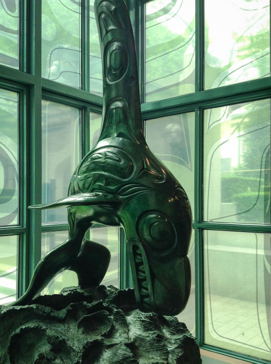 Bill Reid sculpture of a killer whale