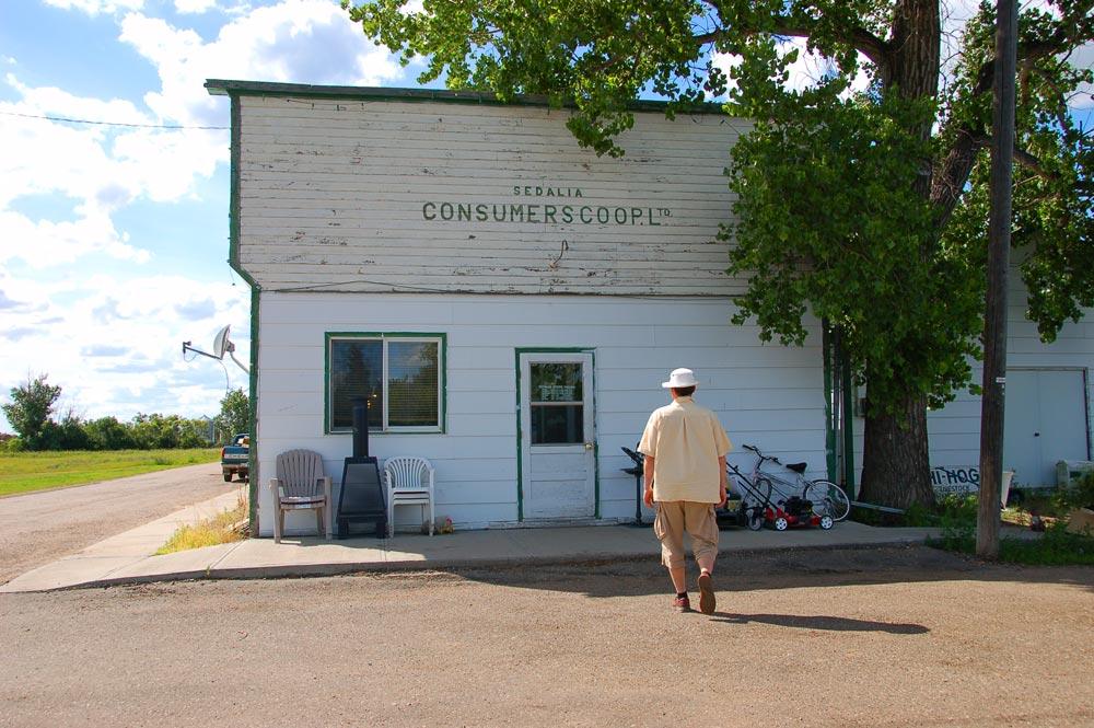 general store storefront in Sedalia, Alberta