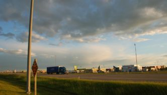 Gasoline Alley in Red Deer, Alberta