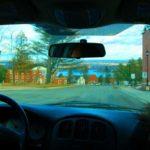 view through car window