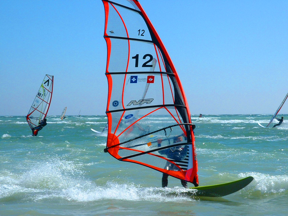 Magdalen Islands windsurfer