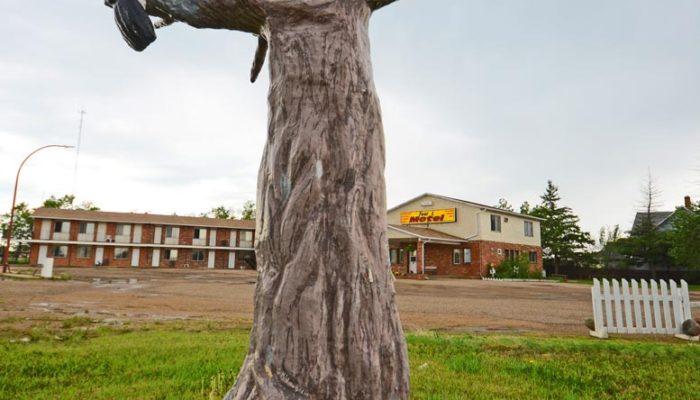 Leader, Saskatchewan sculpture. Red-headed Woodpecker, 2004, Grant McLaughlin