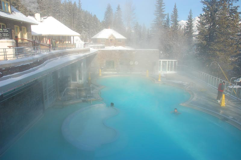 Upper hot spring in Banff National Park