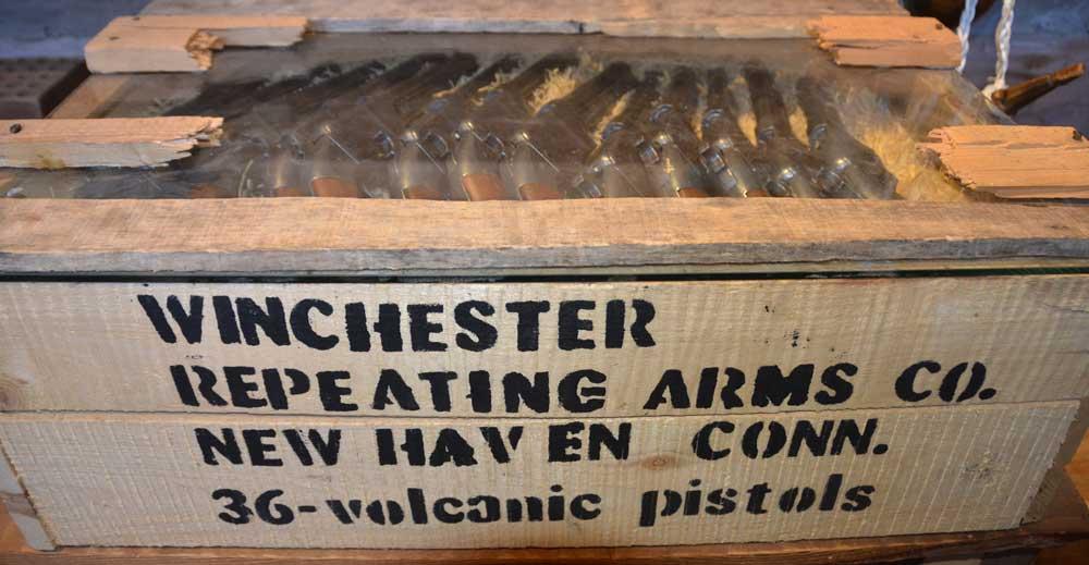 antique guns at Fort Whoop-Up