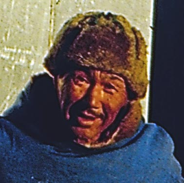 Inuit fisherman's face