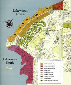 map of lots at Lakewoods