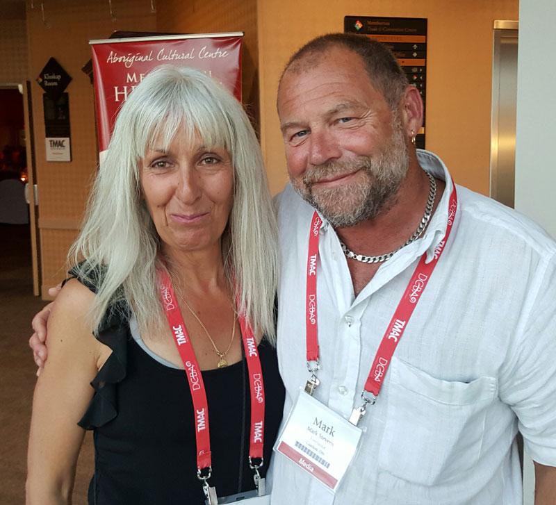 Mark Stevens and Sharon Matthews Stevens