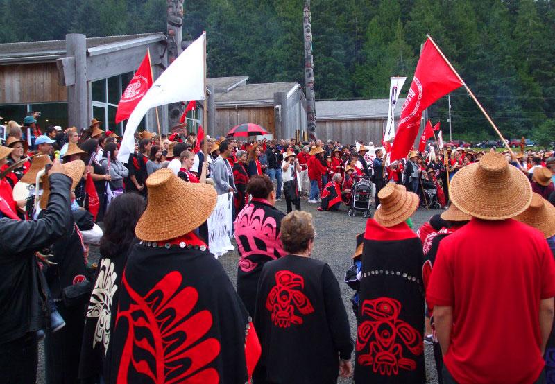 opening of Haida Heritage Centre