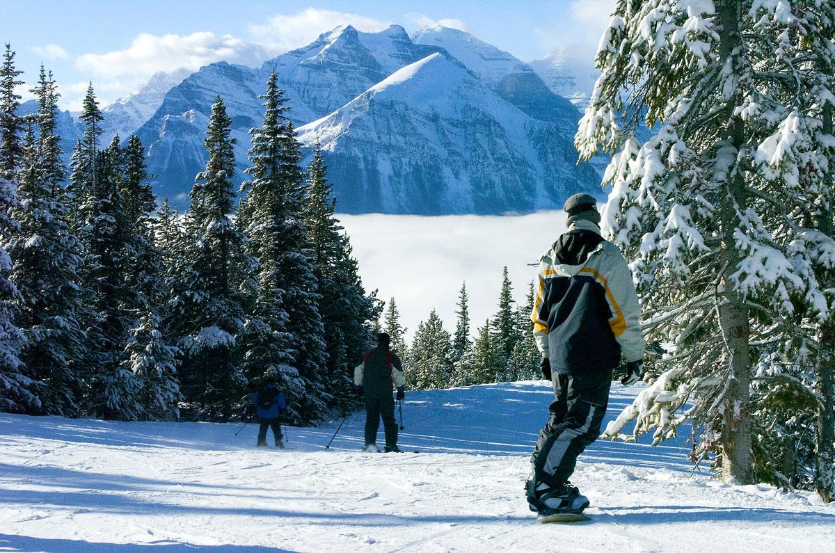 skiing in Alberta, Canada