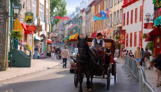 Quebec City in summer and winter