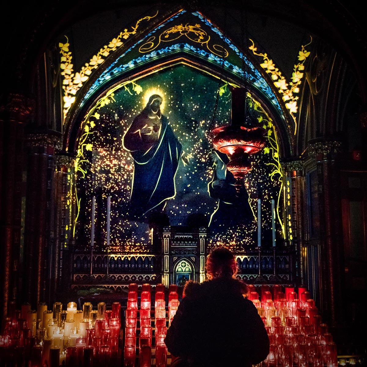 Aura - Notre-Dame Basilica - Montreal interior