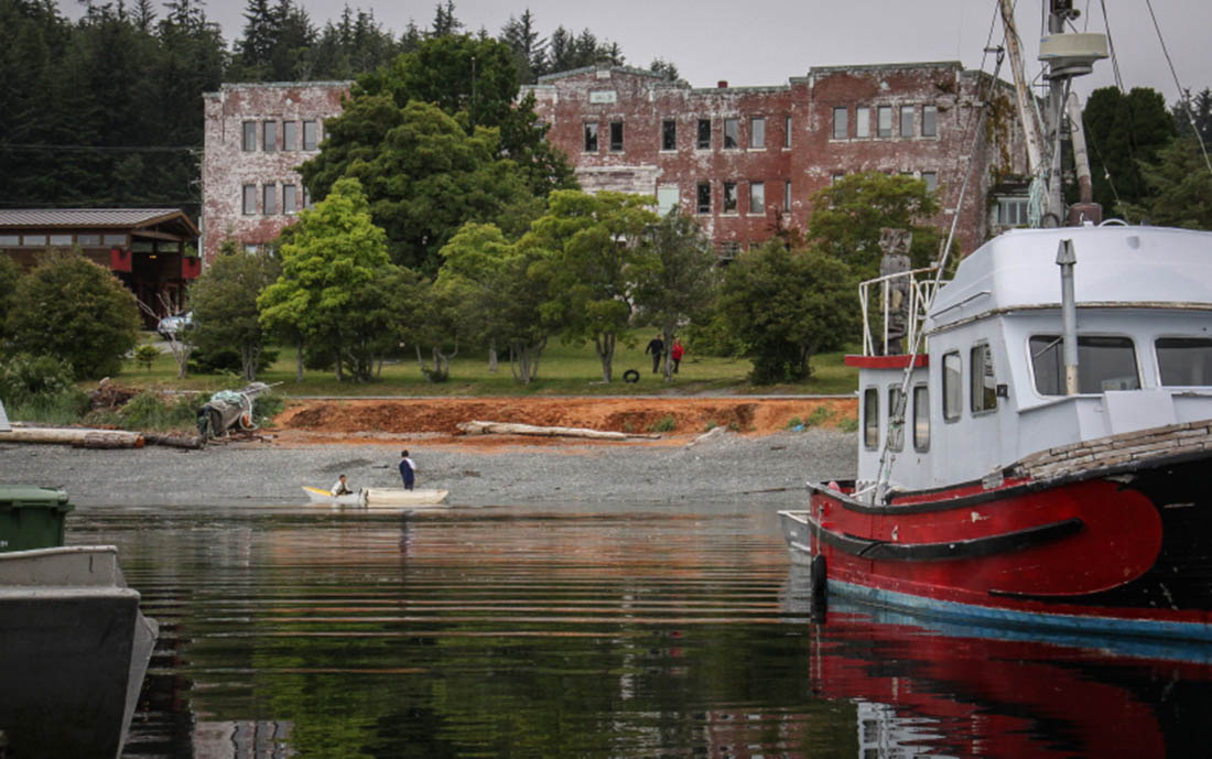 St. Michaels Residential School from the waterfront