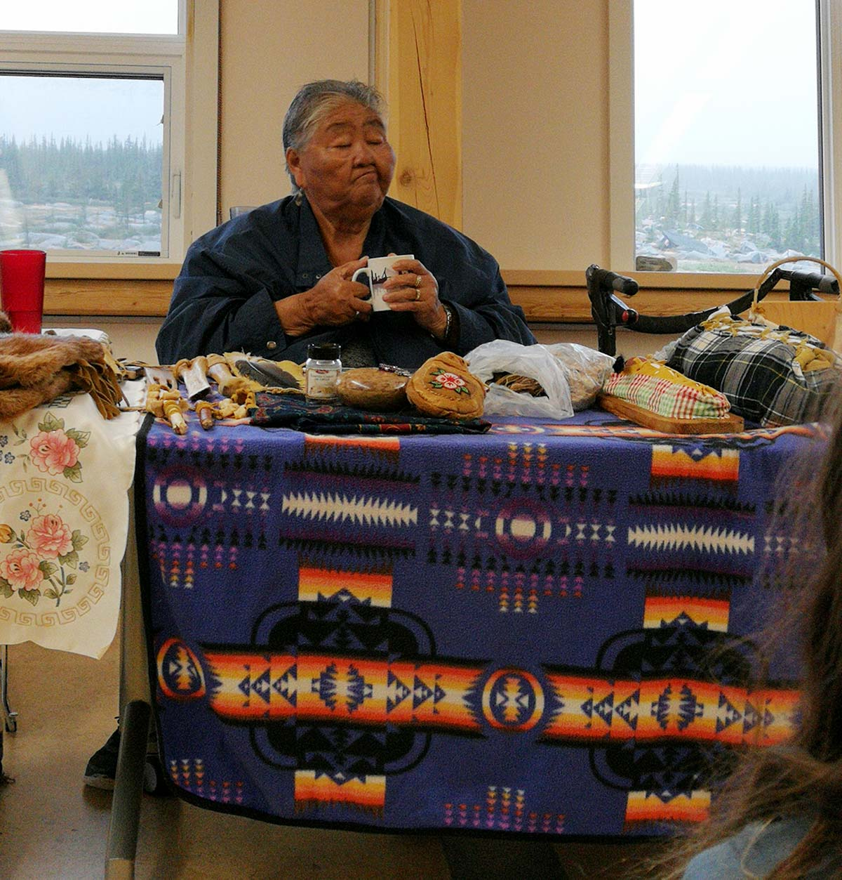 Sayisi Dene Elder Caroline Bjorkland at the Churchill Northern Studies Centre