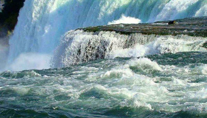 Over the edge at Niagara Falls – photo courtesy of Bobby Mikul