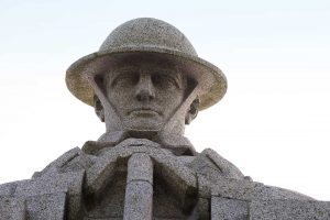 "Remembrance Day statue ""Brooding Soldier"""