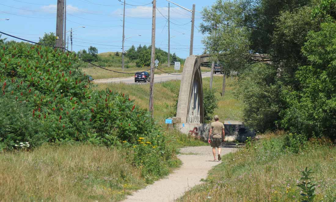 Charles Mattaini Bowstring Bridges_Guelph Stone Road bridge over the Eramosa River
