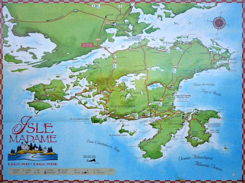 map of Isle Madame Cape Breton