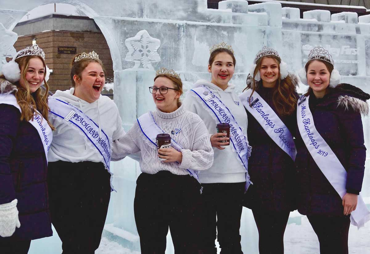 beauty pageant at the Vernon Winter Carnival