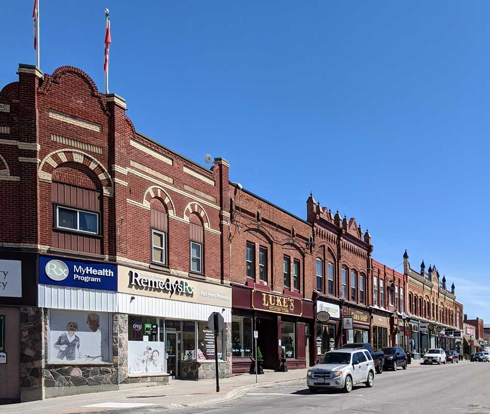 Port Perry, Ontario downtown streetscape