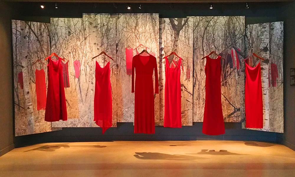 The REDress Project at the Canadian Museum for Human Rights CMHR Winnipeg