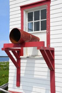lighthouse foghorn at Mingan Archipelago National Park Reserve, Québec
