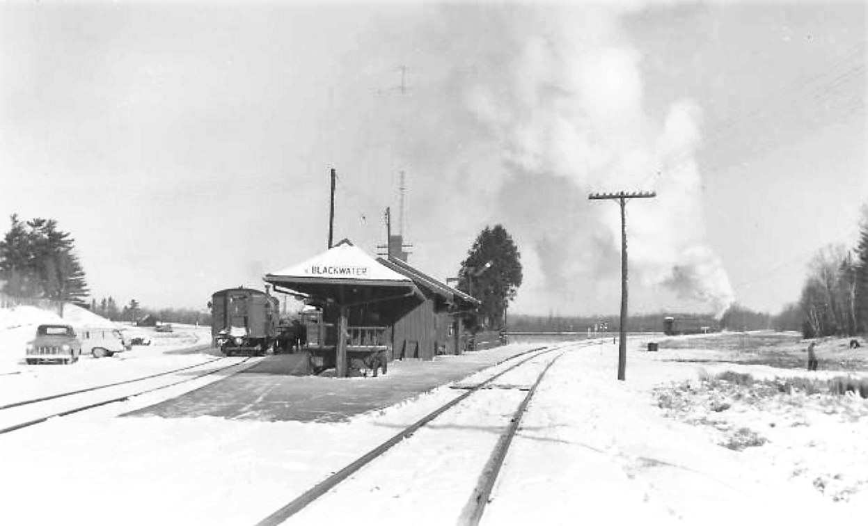 Blackwater station in winter 1958