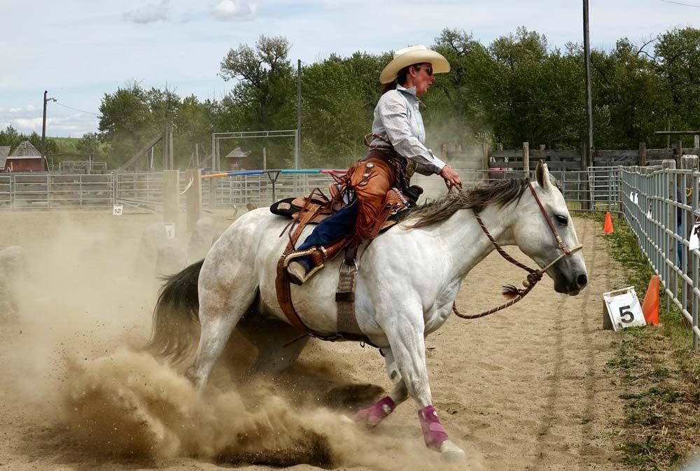 Extreme Cowboy racer Steph Larson at Bar U Ranch National Historic Site