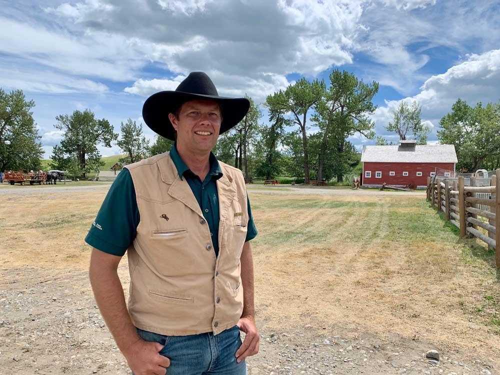 Site Manager Dylan Spencer at Bar U Ranch National Historic Site