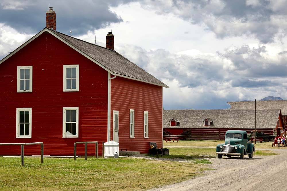 historic buildings at Bar U Ranch National Historic Site